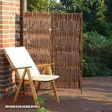 paravent für terrasse paravent skagen hoch 2 teilig weide paravent garten