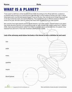 make a planet worksheet education com