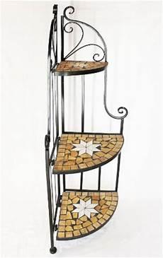 scaffali ferro battuto scaffale ad angolo mosaico merano 12005 libreria 114cm in