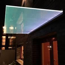 vordach mit licht plan d panther glas