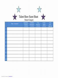 talent show score sheet 4 free templates in pdf word excel download