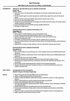 resume sles for design engineers mechanical mechanical design engineer cv sle