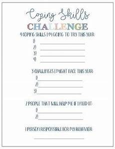 coping skills challenge worksheet by hanging with the