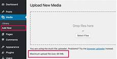 wp upload how to increase the maximum file upload size in