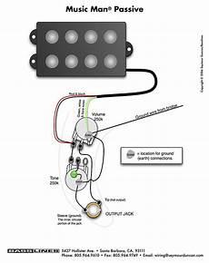 bass wiring diagram musicman guitarras baixo contrabaixo auditivo
