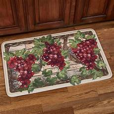 Grape Kitchen Floor Mats by Grape Harvest Memory Foam Cushioned Kitchen Mat