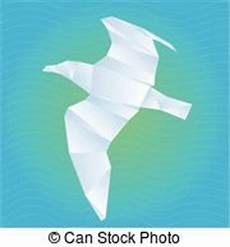 origami gabbiano standing carino gabbiano cartone animato