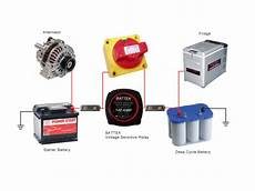 using voltage sensitive relay for dual battery application in automotive voltage sensitive