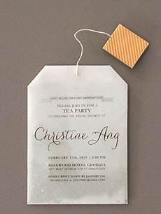 s diy tea bag bridal shower invitations