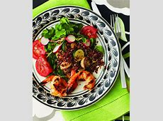 Healthy Dinner Recipe: Grilled Shrimp, Quinoa,