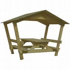 table de pique nique en bois avec banc table en bois avec