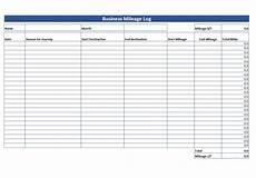 simple mileage log free mileage log template download