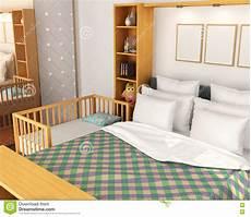 vicino al letto bedroom di bambino vicino al letto dei genitori