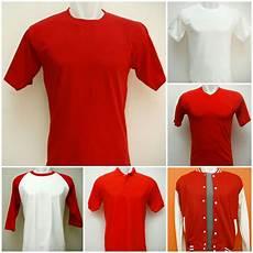 koleksi kaos polos dan sweater polos merah putih untuk sablon kaos 17 agustusan grosir kaos