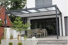 Pergola Metall Glasdach - terrassen 220 berdachung flachdach mit glas modern deck