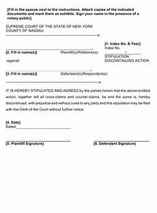 form 32 download fillable pdf or fill online stipulation discontinuing action nassau county new