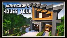 minecraft modern house plans minecraft awesome modern house design tour youtube