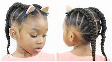 ponytail cornrow hairstyles for little girls natural