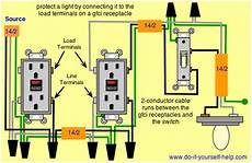 wiring diagrams for ground fault circuit interrupter receptacles do it yourself help com
