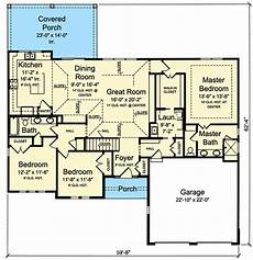 craftsman ranch house plans plan 39254st craftsman ranch with 3 beds and open floor