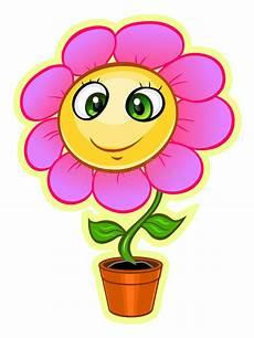 Malvorlagen Blumen Mit Gesicht Karikatur Blume Vektor Abbildung Bild Gesicht Pink