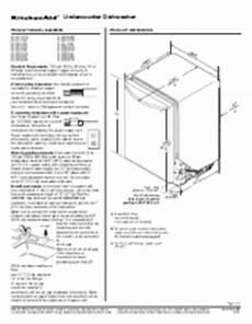 Kitchenaid Dishwasher Install Manual by Kitchenaid Kuds30fxss Support And Manuals
