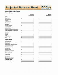 download projected balance sheet template excel pdf rtf word freedownloads net