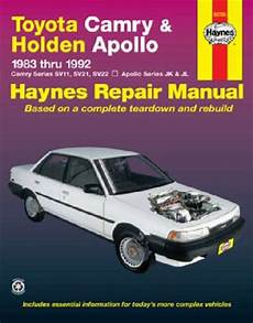 car repair manuals online pdf 1992 toyota camry electronic toll collection toyota camry holden apollo 1983 1992 haynes service repair manual sagin workshop car manuals