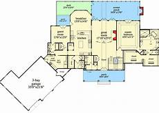 ranch walkout basement house plans mountain ranch with walkout basement 29876rl