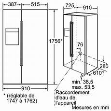 dimension frigo americain encastrable frigo americain taille standard choix d 233 lectrom 233 nager