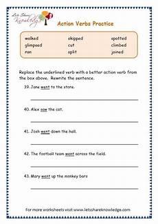 grade 3 grammar topic 2 action verbs worksheets free worksheets sles
