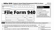how to file form 940 futa employer s annual federal