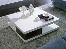 table basse carrée blanc laqué table basse carr 233 e quot moli quot en mdf laqu 233 noir et blanc 56777
