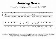 Amazing Grace Tabs 3 String Open G Cigar Box Guitar