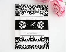 damask wedding invitations black and black and white damask wedding invitations wedding