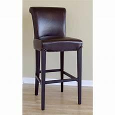wholesale interiors 174 cognac brown leather bar stool