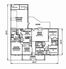 e plans ranch house plans ranch style house plan 4 beds 3 baths 1856 sq ft plan