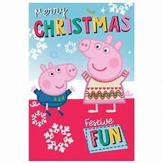 merry christmas peppa pig christmas card 259681 character brands