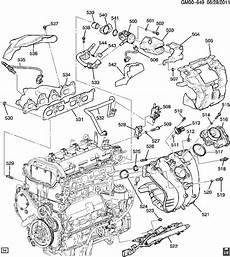 2011 chevy equinox engine diagram 2010 2012 chevy equinox gmc terrain 2 4l heat shield exhaust cover new 12643927 factory oem parts