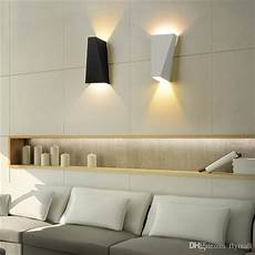 2019 10w led modern light up down wall l square spot