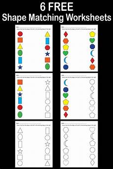 6 free shapes matching worksheets for preschool toddlers supplyme