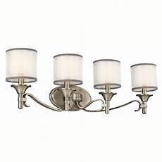 shop kichler lighting 4 light lacey antique pewter transitional vanity light at lowes com