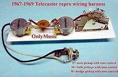 1960s strat wiring diagram compatible to fender telecaster 1967 1969 reproduction vintage wiring harness ebay