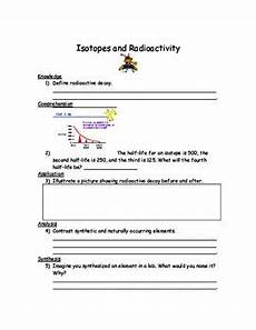 earth science radioactive decay worksheet 13276 isotopes and radioactivity worksheet worksheets page half