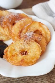 billige kuchen gebackene apfelringe mit zimtzucker rezept recipes