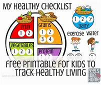 Free Printable For Kids To Track Healthy Eating  Feels