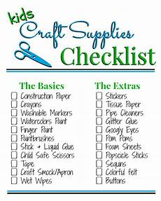 stock up with this kid s craft supply list via my