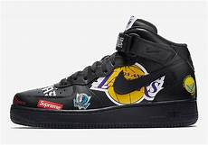 air supreme supreme nike air 1 mid black nba logos aq8017 001