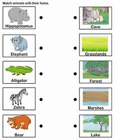 plants habitat worksheets for grade 2 13565 students could match the animal to its habitat independently or in groups could be adap with