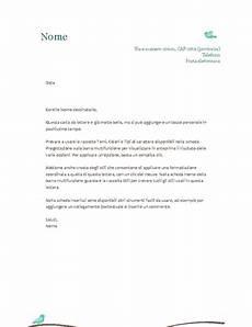 lettera all ufficio personale carta intestata personale